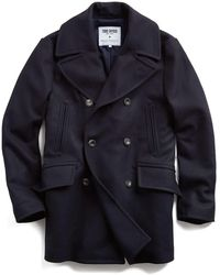 Todd Synder X Champion + Private White Manchester Wool Cashmere Peacoat - Blue