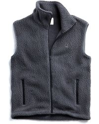 Todd Snyder - Polartec Sherpa Vest In Charcoal - Lyst