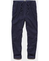 Todd Synder X Champion Stretch Corduroy Weekend Pant In Navy - Blue