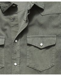 Todd Synder X Champion Micro Corduroy Western Shirt - Green