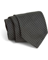 Todd Snyder - Hand-finished Silk Tie In Olive Pindot - Lyst