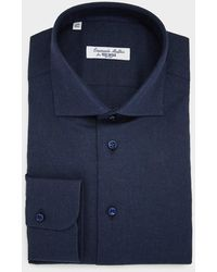 Todd Synder X Champion Solid Cotton Shirt In Navy - Blue
