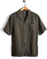 Todd Synder X Champion - Short Sleeve Linen Camp Collar Shirt In Olive - Lyst