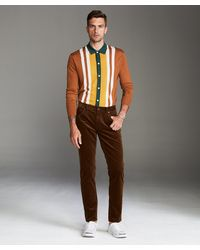Todd Synder X Champion Slim Fit 5-pocket Italian Stretch Cord In Camel - Multicolor