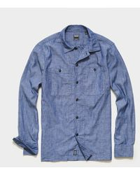 Todd Synder X Champion Japanese Selvedge Chambray Recruit Shirt - Blue