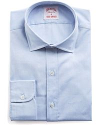 Hamilton | Blue Solid Pinpoint Shirt | Lyst