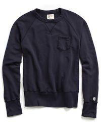 Todd Snyder | Pocket Sweatshirt In True Navy | Lyst