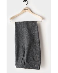 Todd Synder X Champion Donegal Wool Madison Pleated Suit Trouser - Gray