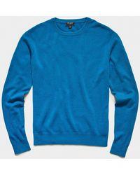 Todd Synder X Champion Cashmere Crewneck Sweater - Blue