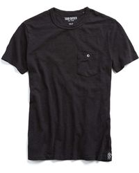 Todd Snyder - Classic Pocket Tee In Jet Black - Lyst