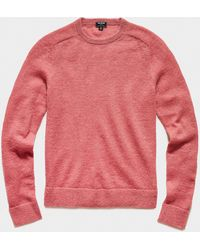Todd Synder X Champion Brushed Italian Mohair Wool Sweater - Pink