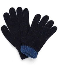 Drake's - Drakes Navy Solid Wool Tipped Gloves - Lyst