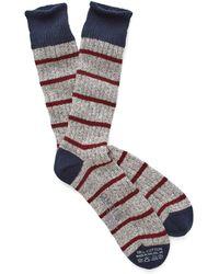 Corgi - Marled Stripe Socks In Red - Lyst