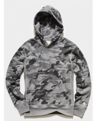 Todd Synder X Champion Heather Grey Camo Popover Hoodie