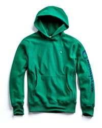Todd Snyder Champion Graphic Hoodie In Turf Green