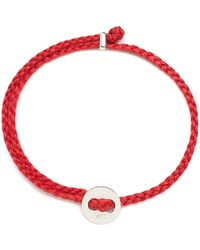 Scosha Signature 4mm Bracelet In Silver And Scarlet - Red