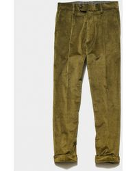 Todd Synder X Champion Italian Pleated Cord Madison Trouser - Green