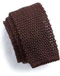 Todd Snyder - Classic Knit Silk Tie In Brown - Lyst