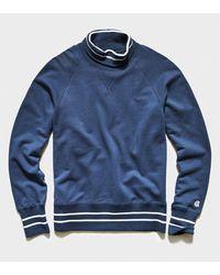 Todd Synder X Champion Tipped Turtleneck Sweatshirt - Blue