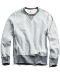 Todd Snyder - Reverse Weave Sweatshirt In Light Grey Mix - Lyst