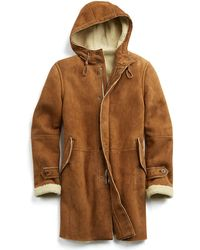 Todd Synder X Champion Sueded Shearling Hooded Parka - Brown