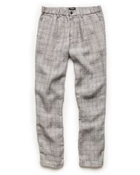 Todd Snyder - Italian Linen Elastic Waistband Trousers In Grey - Lyst