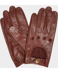Dents Dents Delta Classic Leather Driving Gloves In English Tan - Brown