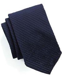 Drake's - Navy Seersucker Tie - Lyst