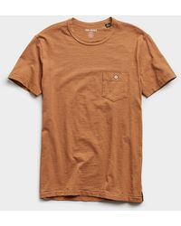 Todd Synder X Champion Made In L.a. Slub Jersey Pocket Tee - Brown