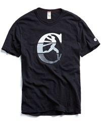 Todd Snyder - Champion Logo Graphic In Black - Lyst