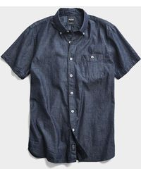 Todd Synder X Champion Chambray Short Sleeve Shirt - Blue