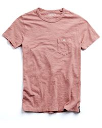 Todd Snyder - Classic Pocket Tee In Dusty Pink - Lyst
