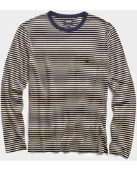 Todd Synder X Champion - Nautical Striped Long Sleeve T-shirt In Navy - Lyst