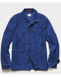 Todd Synder X Champion Japanese French Chore Coat In Indigo - Blue