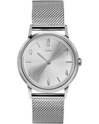Timex - Exclusive Timex Marlin Mesh Band Watch In Silver - Lyst