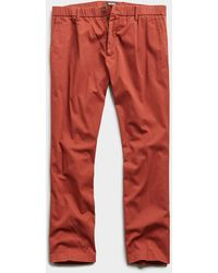 Todd Synder X Champion The Pleated Pant - Red