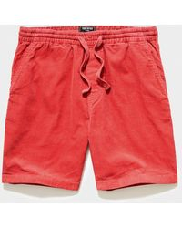 """Todd Synder X Champion 7"""" Washed Corduroy Weekend Short - Red"""