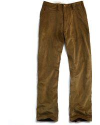 E. Tautz - Core Field Corduroy Trouser In Green - Lyst