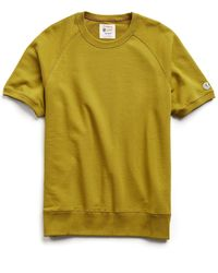 Todd Synder X Champion Lightweight Short Sleeve Sweatshirt - Yellow
