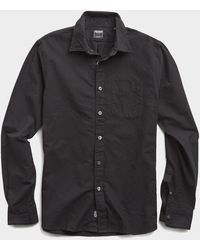 Todd Synder X Champion Japanese Selvedge Oxford Shirt In Black