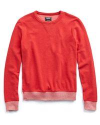 Todd Snyder - Terry Sweatshirt In Red - Lyst