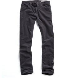 Todd Synder X Champion 5-pocket Stretch Italian Cord In Charcoal - Gray