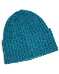 eefd852ee4a Drake s - Donegal Merino Wool Hat In Turquoise - Lyst
