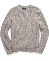 Todd Snyder | Heavy Stitch Crew Sweater In Grey | Lyst