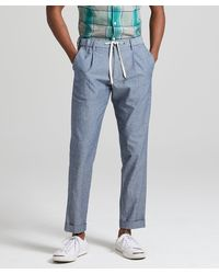 Todd Synder X Champion Chambray Traveller Suit Trouser - Blue