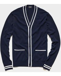 Todd Synder X Champion Tipped Cardigan - Blue