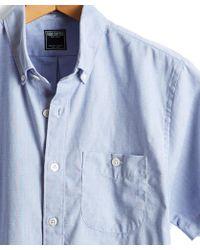 Todd Snyder - Short Sleeve Pique Shirt In Blue - Lyst