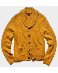Todd Synder X Champion Cashmere Donegal Cardigan - Yellow