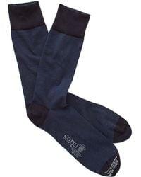 Corgi - Cotton Cashmere Socks In Navy - Lyst