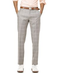 Todd Snyder - Prince Of Wales Tropical Wool Sutton Suit Trouser In Grey - Lyst